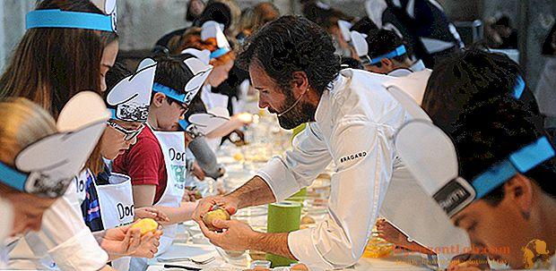 كارلو كراكو يعلم الأطفال كيفية الطهي (على متن سفن الرحلات البحرية)