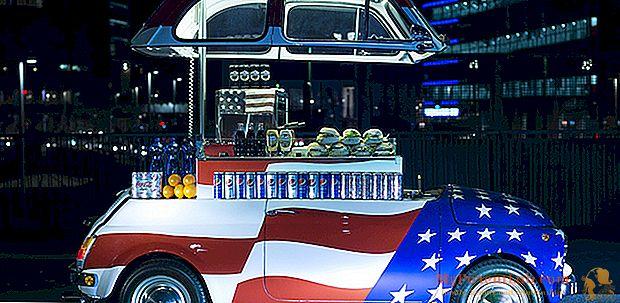 Maisto sunkvežimis: naktiniai maisto mikroautobusai kaip meno kūriniai