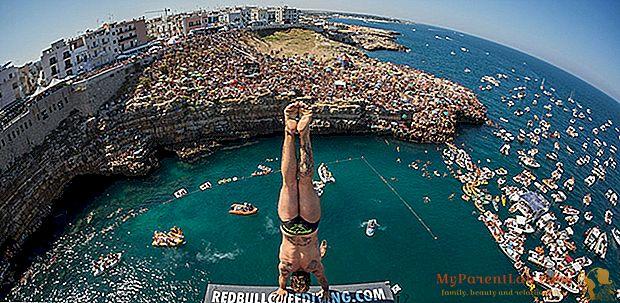 Impresionantes inmersiones desde las rocas: el circuito mundial se detiene en Polignano a Mare