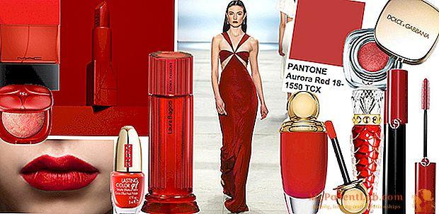 美のムードボード:赤の女性