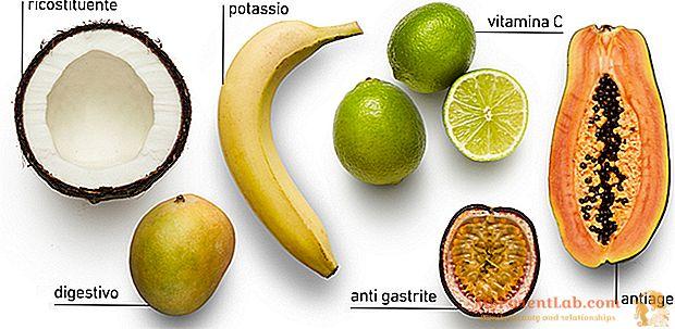 مستخلص على أساس الفاكهة الاستوائية. الملونة والفيتامينية