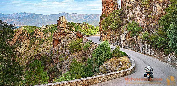 Verão em uma motocicleta: férias na Córsega na estrada