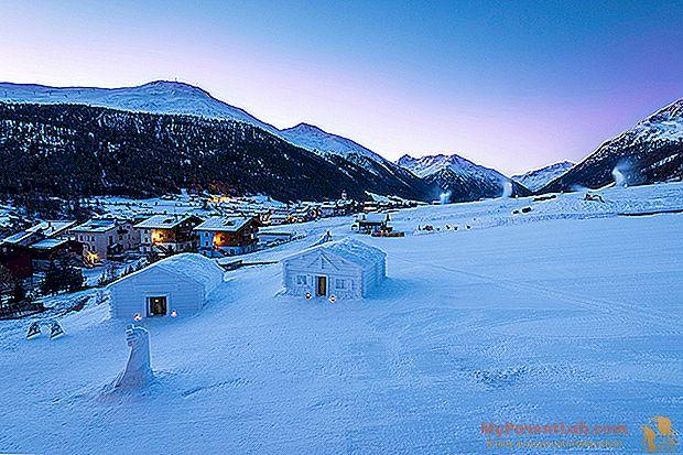 В Ливиньо сладкие сны в первой снежной хижине в Альпах