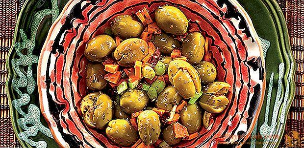 """Um aperitivo siciliano: azeitonas verdes """"cunzate"""""""