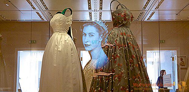 La ropa de Diana, Margaret y Elizabeth en exhibición en el Palacio de Kensington