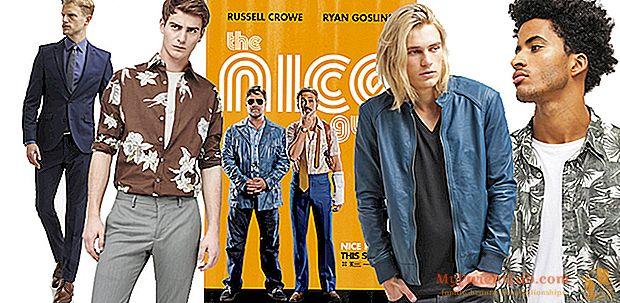 """Inspiración cinematográfica: la moda masculina de estilo californiano de """"The Nice Guys""""."""