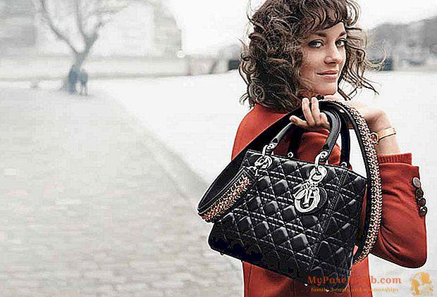 Марион Котийяр для Lady Dior, одна из граней модных кампаний весна / лето 2016