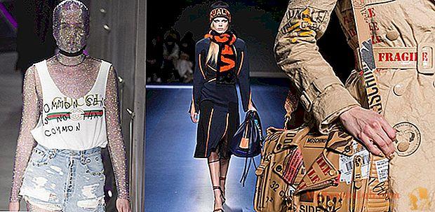 Milan Fashion Week 2017: tendencia de letras de los desfiles de moda