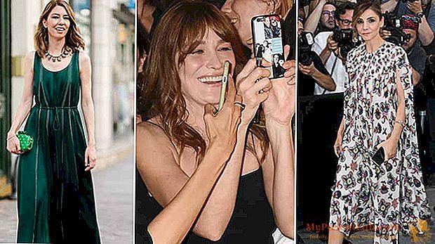 Alta moda em Paris. E a ex-atriz Carla Bruni tira selfies na primeira fila