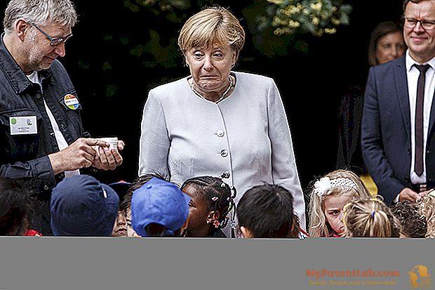 Angela Merkel y los pequeños científicos. La visita a berlin
