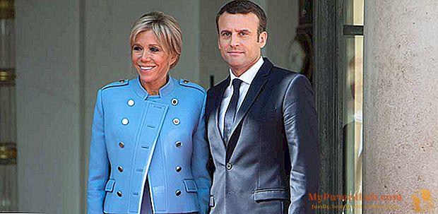 Brigitte Macron ingresa al Elíseo con un traje de diseñador (pero en préstamo)