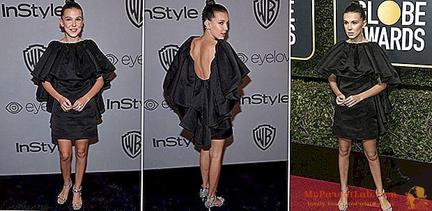 Golden Globe: el look demasiado sexy de la pequeña Millie Bobby Brown