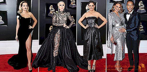 Premios Grammy 2018: todas las miradas en la alfombra roja: Lady Gaga con súper tren