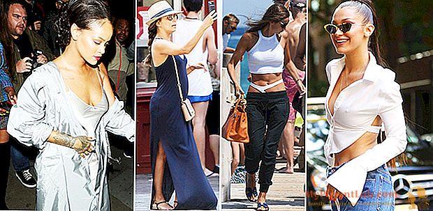 Penampilan Juli: dari Eva Longoria di Spanyol hingga Rihanna dalam tur, gaya jalanannya adalah musim panas