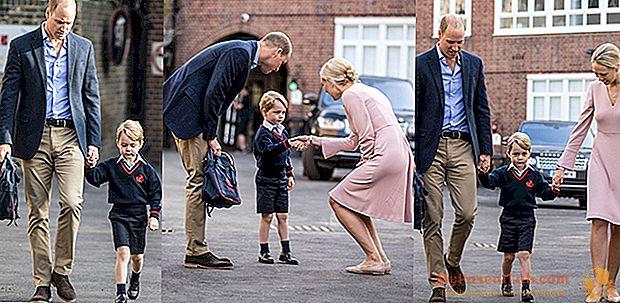 Le premier jour d'école de Prince George, accueilli par l'archet du directeur
