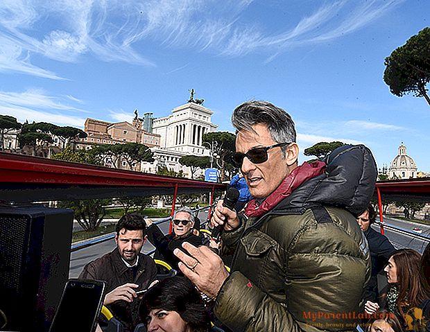 Por el entrenador con Fiorello para el nuevo quiosco de prensa Fiore