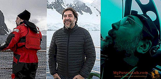 Javier Bardem im U-Boot der Antarktis mit Greenpeace