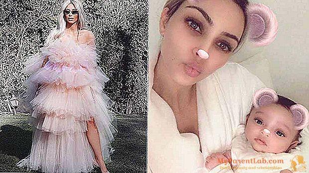 Kim Kardashian no Instagram com a primeira imagem do bebê Chicago West