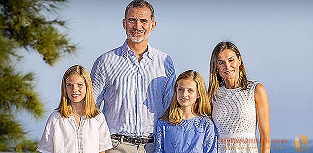 Letizia dari Spanyol dan keluarga yang sedang berlibur di Mallorca: pantai yang sama, laut yang sama, foto yang sama
