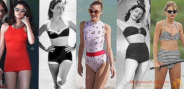El estilo de playa? El look perfecto es vintage, comparado con las estrellas de ayer y de hoy.