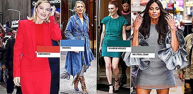 Aspecto otoño-invierno: los 10 colores de moda de Pantone para llevar en el armario.