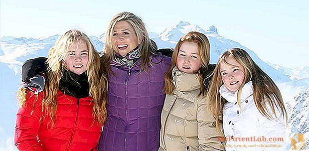 Maxima und die kleinen Prinzessinnen im Schnee, in Österreich: alle zusammen leidenschaftlich