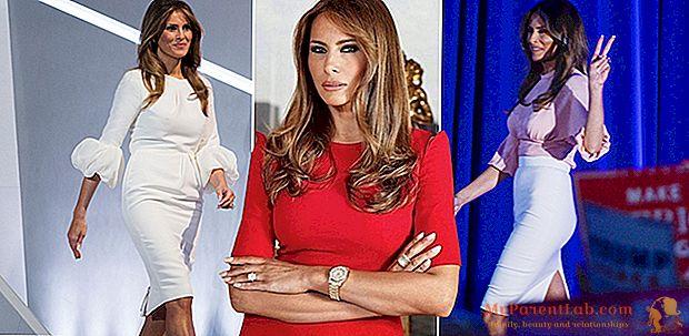 ميلانيا ترامب. تطور نمط السيدة الأولى الجديدة ، من صور ملابس البحر إلى فستان غمد المرسوم