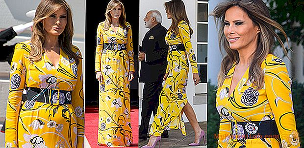 ميلانيا ترامب تختار اللون الأصفر (والمعد في إيطاليا) للقاء مع رئيس الوزراء الهندي