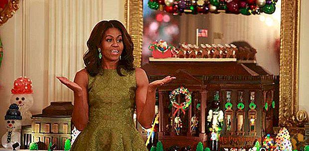 Michelle Obama, Weihnachten im Weißen Haus mit Designerdekorationen und -looks