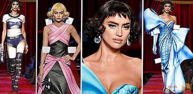 Milan Fashion Week, Lrina Shayk, Vamp Puppe für Moschino