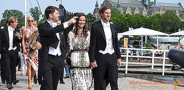 بيبا ميدلتون وجيمس ماثيوز ، أول زواج متزوج هو الزواج