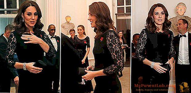 3人目の王室の赤ちゃんと一緒に妊娠しているKate Middletonのレース、OHPフィルム、ジュエリー