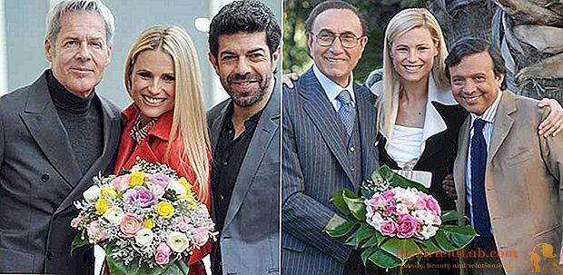 באותו זמן על ידי מישל Hunziker ב Sanremo בשנת 2007 עם פיפו Baudo: נראה את gags