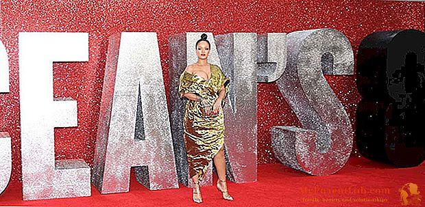 Rihanna todo oro en la alfombra roja del océano 8