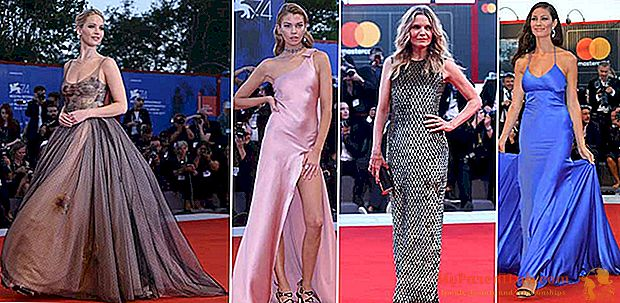 """Venecia 74. ¡La alfombra roja de la madre! con Jennifer Lawrence y Michelle Pfeiffer. Y el desafío """"habitual"""" entre estrellas y modelos."""