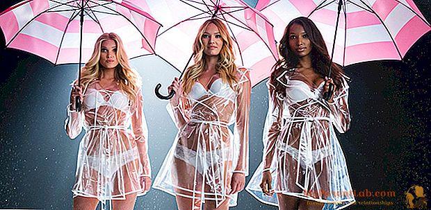 Victoria's Secret menempatkan pakaian dalam di bawah payung